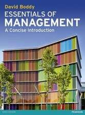 Boddy, D: Essentials of Management