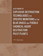 Assessment of Explosive Destruction Technologies for Specific Munitions at the Blue Grass and Pueblo Chemical Agent Destruction Pilot Plants:  Progress and Possibilities