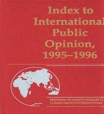 Index to International Public Opinion, 1995-1996