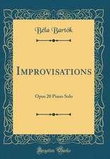 Improvisations: Opus 20 Piano Solo (Classic Reprint)