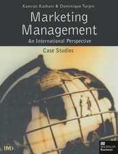 Marketing Management: An International Perspective: Case Studies