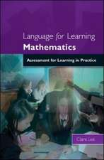 Language for Learning Mathematics:  Assessment for Learning in Practice