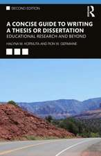 Concise Guide to Writing a Thesis or Dissertation