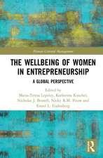 Wellbeing of Women in Entrepreneurship