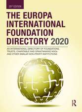 Europa International Foundation Directory 2020