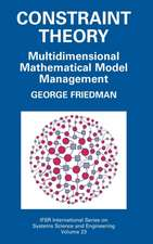 Constraint Theory: Multidimensional Mathematical Model Management