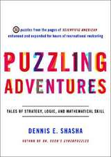 Puzzling Adventures – Tales of Strategy, Logic and  Mathematical Skill