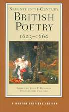 Seventeenth–Century British Poetry, 1603–1660