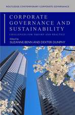 Corporate Governance and Sustainability: Challenges for Theory and Practice