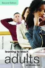 Learning to Teach Adults:  An Introduction