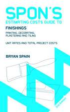 Spon's Estimating Costs Guide to Finishings