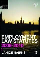 Employment Law Statutes 2009-2010
