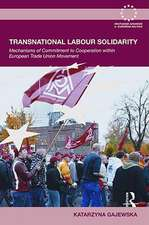 Transnational Labour Solidarity:  Mechanisms of Commitment to Cooperation Within the European Trade Union Movement