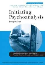 Initiating Psychoanalysis