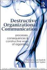 Destructive Organizational Communication