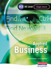 GCE AS Level Applied Business Single Award for Edexcel Student Book