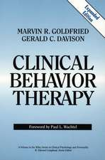 Clinical Behavior Therapy: Expanded