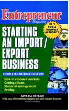 Entrepreneur Magazine: Starting an Import / Export Business