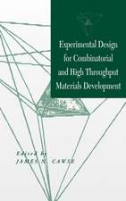 Experimental Design for Combinatorial and High Throughput Materials Development