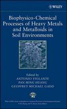 Biophysico–Chemical Processes of Heavy Metals and Metalloids in Soil Environments