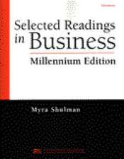 Selected Readings in Business  Millenium Edition