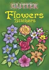 Glitter Flowers Stickers