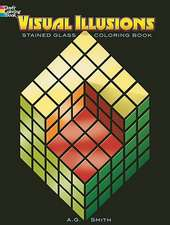 Visual Illusions Stained Glass Coloring Book