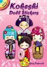Kokeshi Doll Stickers