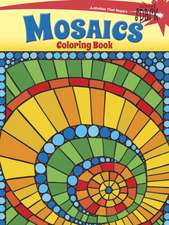 Spark Mosaics Coloring Book:  Inspirational Designs on a Dramatic Black Background