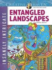 Creative Haven Insanely Intricate Entangled Landscapes Coloring Book:  Easy-To-Follow, Step-By-Step Instructions for Drawing 15 Different Beautiful Blossoms