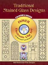 Traditional Stained Glass Designs [With CDROM]:  From Ancient Times to the Renaissance [With CDROM]