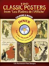 """120 Classic Posters from """"Les Maitres de L'Affiche"""" [With CDROM]"""