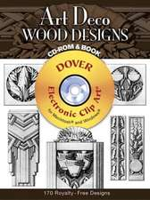 Art Deco Wood Designs CD-ROM & Book [With CD-ROM]