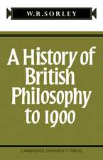 A History of British Philosophy to 1900