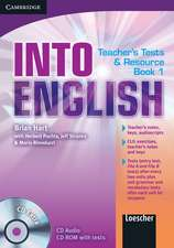 Into English Level 1 Teacher's Test and Resource Book with CD Extra Italian edition
