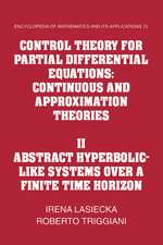 Control Theory for Partial Differential Equations: Volume 2, Abstract Hyperbolic-like Systems over a Finite Time Horizon: Continuous and Approximation Theories