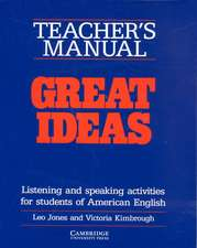 Great Ideas Teacher's manual: Listening and Speaking Activities for Students of American English