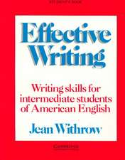 Effective Writing Student's book: Writing Skills for Intermediate Students of American English