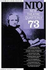New Theatre Quarterly 73:  Volume 19, Part 1