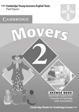 Cambridge Young Learners English Tests Movers 2 Answer Booklet: Examination Papers from the University of Cambridge ESOL Examinations