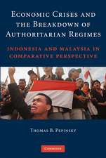 Economic Crises and the Breakdown of Authoritarian Regimes: Indonesia and Malaysia in Comparative Perspective