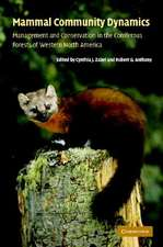 Mammal Community Dynamics:  Management and Conservation in the Coniferous Forests of Western North America