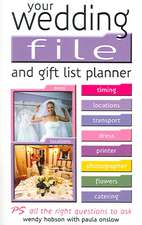 Your Wedding File and Gift List