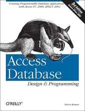 Access Database Design & Programming 3e