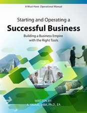 Starting and Operating a Successful Business