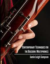 Contemporary Techniques for the Bassoon