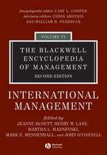 The Blackwell Encyclopedia of Management: International Management