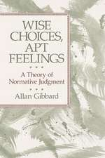 Wise Choices, Apt Feelings – A Theory of Normative Judgement (Paper) (Cobee)