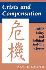 Crisis and Compensation – Public Policy and Political Stability in Japan