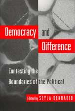 Democracy and Difference – Contesting the Boundaries of the Political